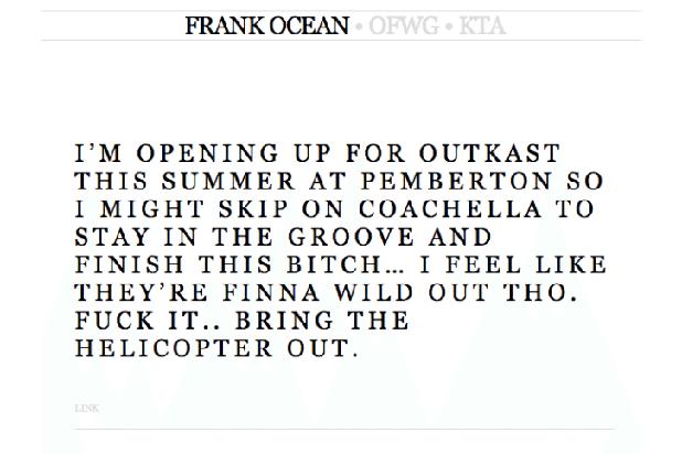 Frank Ocean Coachella