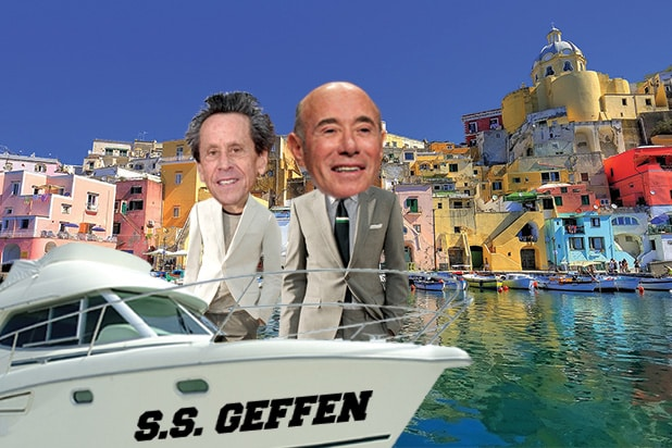 Brain Grazer David Geffen Moguls on a Boat