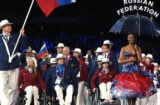 Russian athletes at the London 2012 Paralympics