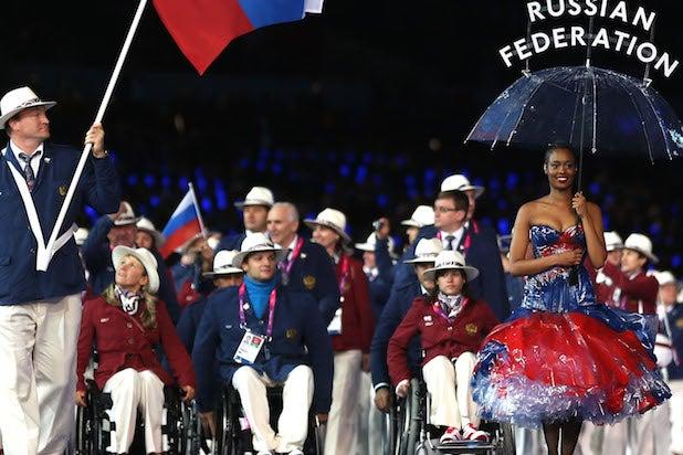Russian athletes at the London 2012 Paralympics