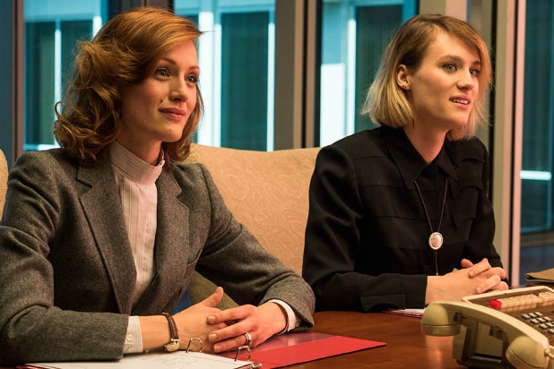 Halt and Catch Fire Kerry Bishe Mackenzie Davis boardroom
