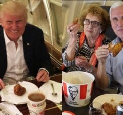 Trump Pence KFC
