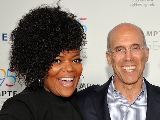 HOLLYWOOD, CA - AUGUST 17: NextGen Board Member Yvette Nicole Brown and CEO of DreamWorks Animation Jeffrey Katzenberg attend MPTF NextGen Launch Event at NeueHouse Los Angeles on August 17, 2016 in Hollywood, California. (Photo by John Sciulli/Getty Images for MPTF)