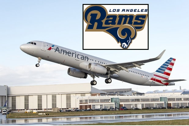 La Rams Team Up With American Airlines As Official Partners