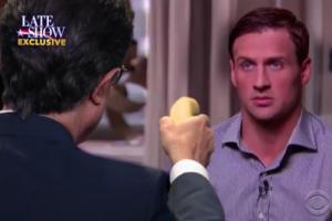 Late Show Colbert Ryan Lochte