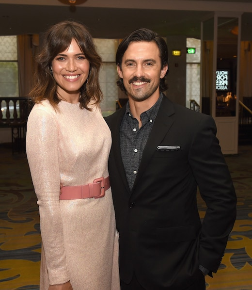 BEVERLY HILLS, CA - AUGUST 04: Actors Mandy Moore (L) and Milo Ventimiglia attend the Hollywood Foreign Press Association's Grants Banquet at the Beverly Wilshire Four Seasons Hotel on August 4, 2016 in Beverly Hills, California. (Photo by Kevin Winter/Getty Images)