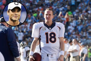 Peyton Manning and Rob Lowe