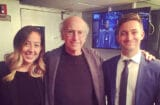 Sarah Schneider, Larry David, Chris Kelly SNL saturday night live
