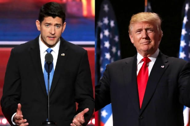 Trump Belatedly Endorses Paul Ryan and John McCain