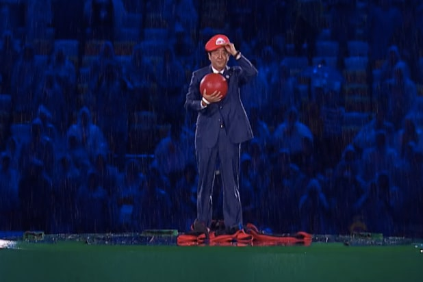 Shinzo Abe Super Mario Rio Olympics Closing Ceremony