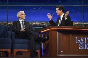 Stephen Colbert Anderson Cooper Corey Lewandowski Late Show CBS