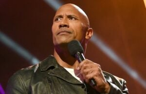 BURBANK, CALIFORNIA - APRIL 09:  Host Dwayne Johnson speaks onstage during the 2016 MTV Movie Awards at Warner Bros. Studios on April 9, 2016 in Burbank, California.  MTV Movie Awards airs April 10, 2016 at 8pm ET/PT.  (Photo by Emma McIntyre/Getty Images for MTV)