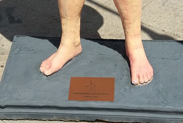 Naked Trump feet