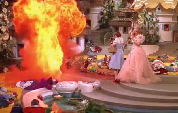 """Wizard of Oz"" fire"