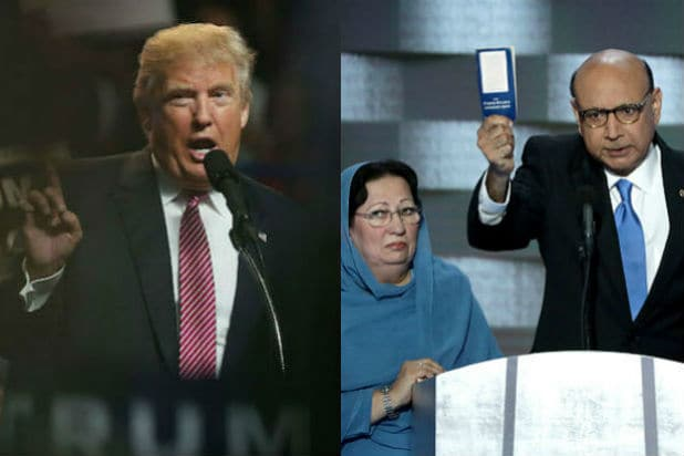 donald trump khizr khan ghazala khan