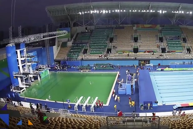 Olympics Green Diving Pool