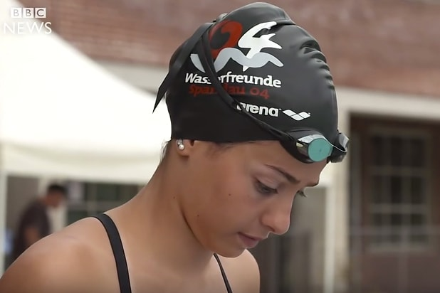 Olympics Refugee Swimmer