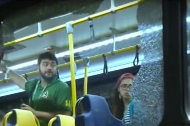 Rio Olympics bus