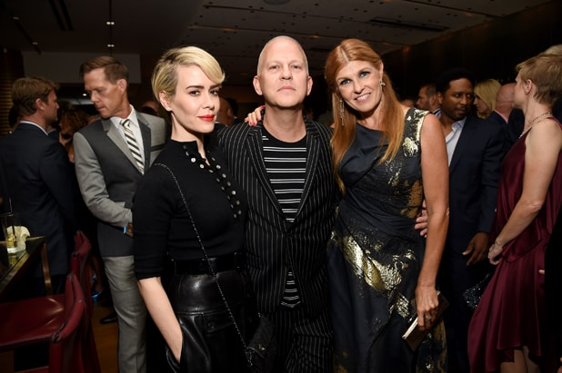 Sarah Paulson, writer/director/producer Ryan Murphy and Connie Britton