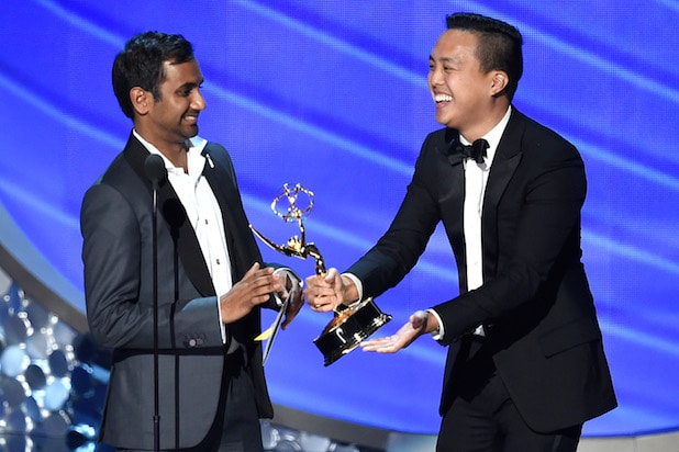 Aziz Ansari Alan Yang Master of None Emmys Win 2016