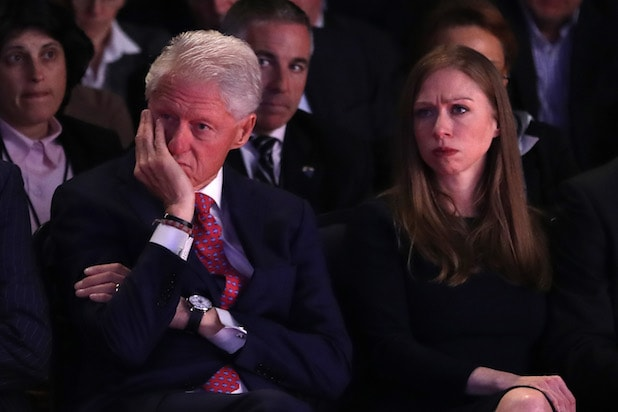 Bill Clinton Chelsea Clinton First Presidential Debate 2016