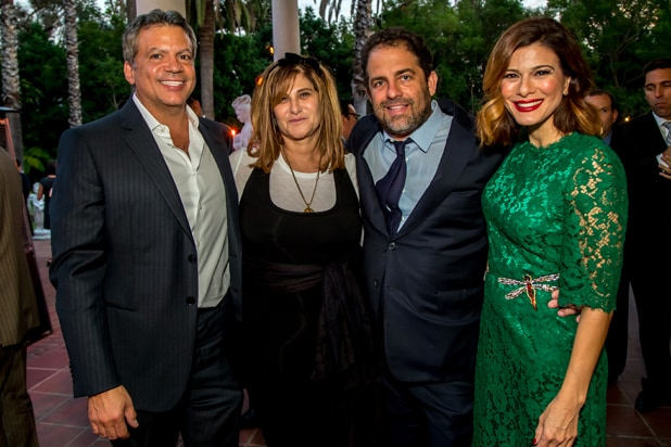 Michael De Luca, Amy Pascal, Brett Ratner, and Angelique Madrid