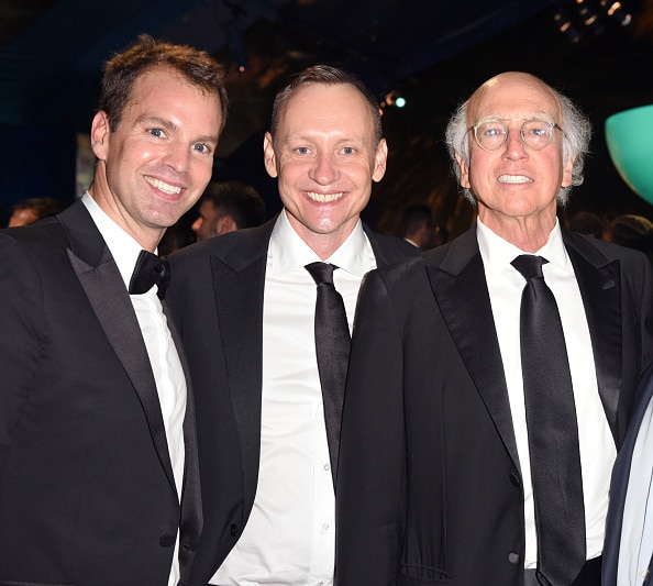 Casey Bloys, writer Alec Berg, and actor/writer Larry David