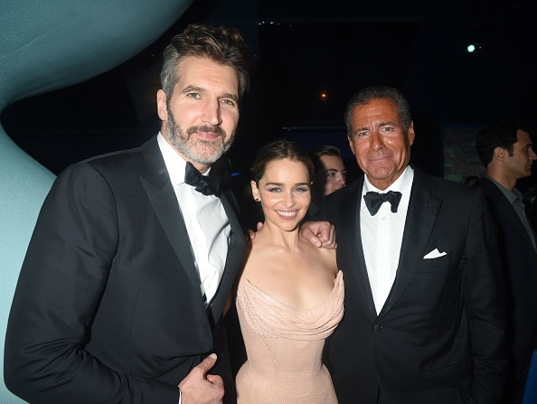 David Benioff, actress Emilia Clarke and Chairman & CEO, HBO, Richard Plepler