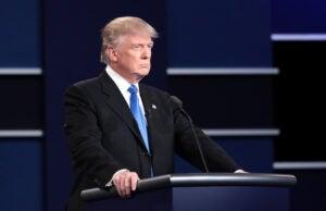 Donald Trump Podium First Presidential Debate 2016