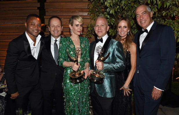 Cuba Gooding Jr., CEO, FX Networks, John Landgraf, Sarah Paulson, THE PEOPLE V. O.J. SIMPSON: AMERICAN CRIME STORY Executive Producer Ryan Murphy, Gary Newman, Chairman and CEO, Fox Television Group, Dana Walden,
