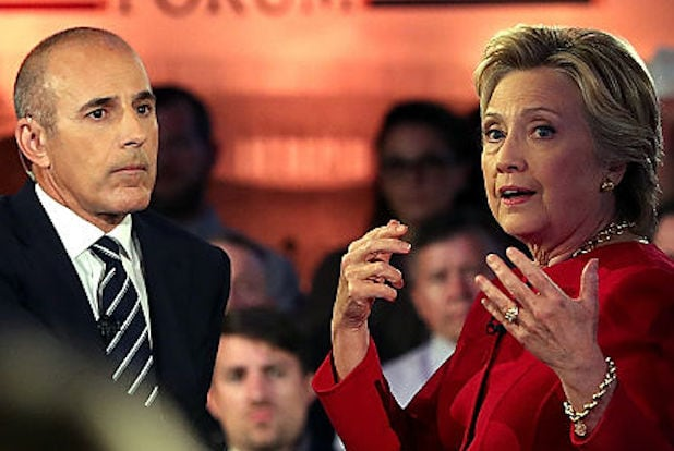 Matt Lauer Hillary Clinton town hall NBC