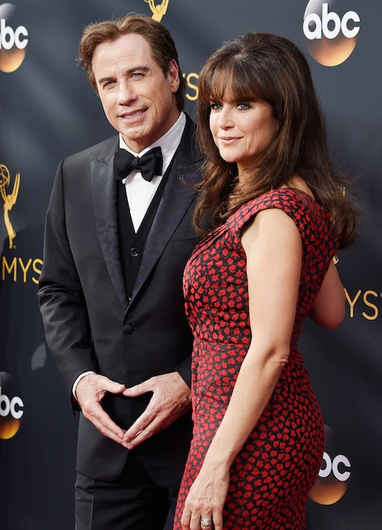 68th Annual Primetime Emmy Awards John Travolta and Kelly Preston