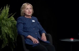 Hillary Clinton between two ferns zach galifianakis