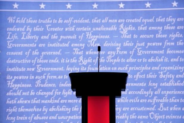 Hofstra debate stage