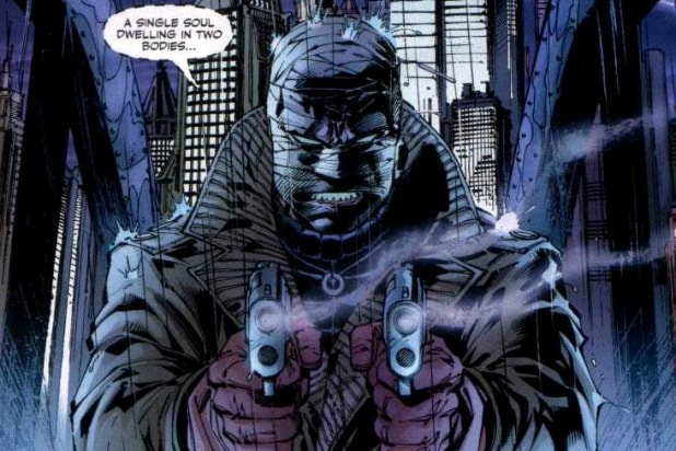 Officiel Batman Baseball Shirt Two Face Harvey Dent DC Comics manches 3//4 S
