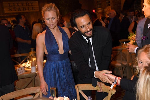 "HOLLYWOOD, CA - SEPTEMBER 28: Actors Ingrid Bolso Berdal (L) and Rodrigo Santoro attend the premiere of HBO's ""Westworld"" after party at The Hollywood Roosevelt on September 28, 2016 in Hollywood, California. (Photo by Jeff Kravitz/FilmMagic)"