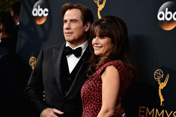 John Travolta Kelly Preston The Emmys