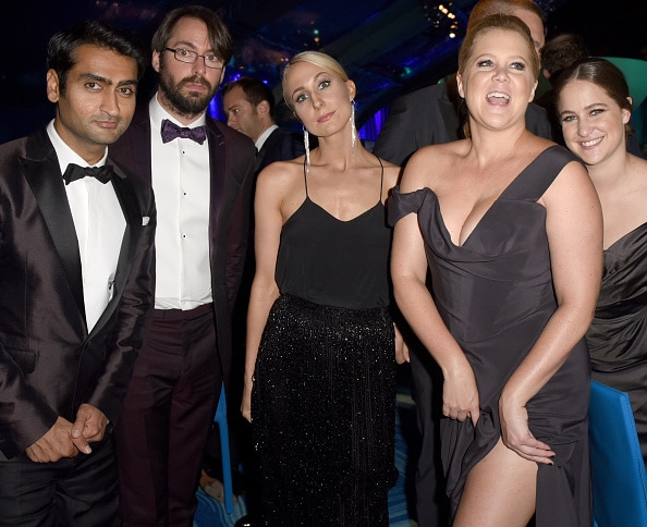 Kumail Nanjiani and Martin Starr, comedians Nikki Glaser and Amy Schumer, and Kim Caramele