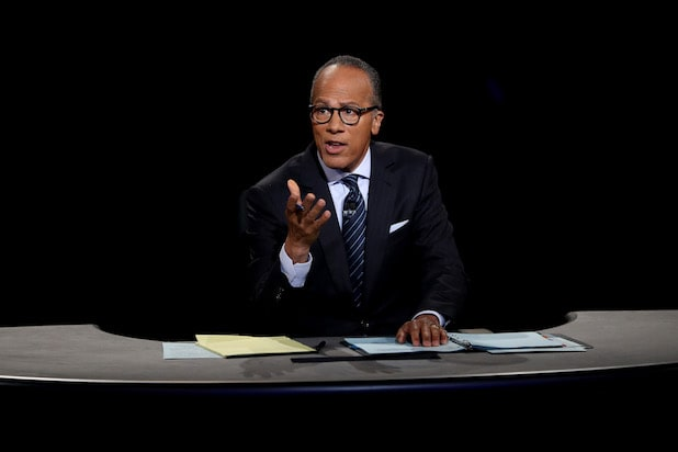 Lester Holt First Presidential Debate 2016