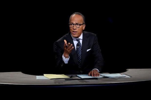 Lester Holt First Presidential Debate 2016