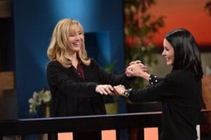 celebrity name game Friends Lisa Kudrow Courteney Cox 2016