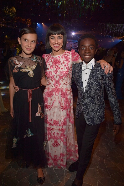 Millie Bobby Brown, actress Constance Zimmer and actor Caleb McLaughlin