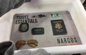 Narcos airport advertising