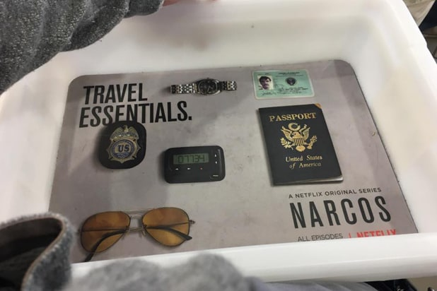 Narcos airport advertising