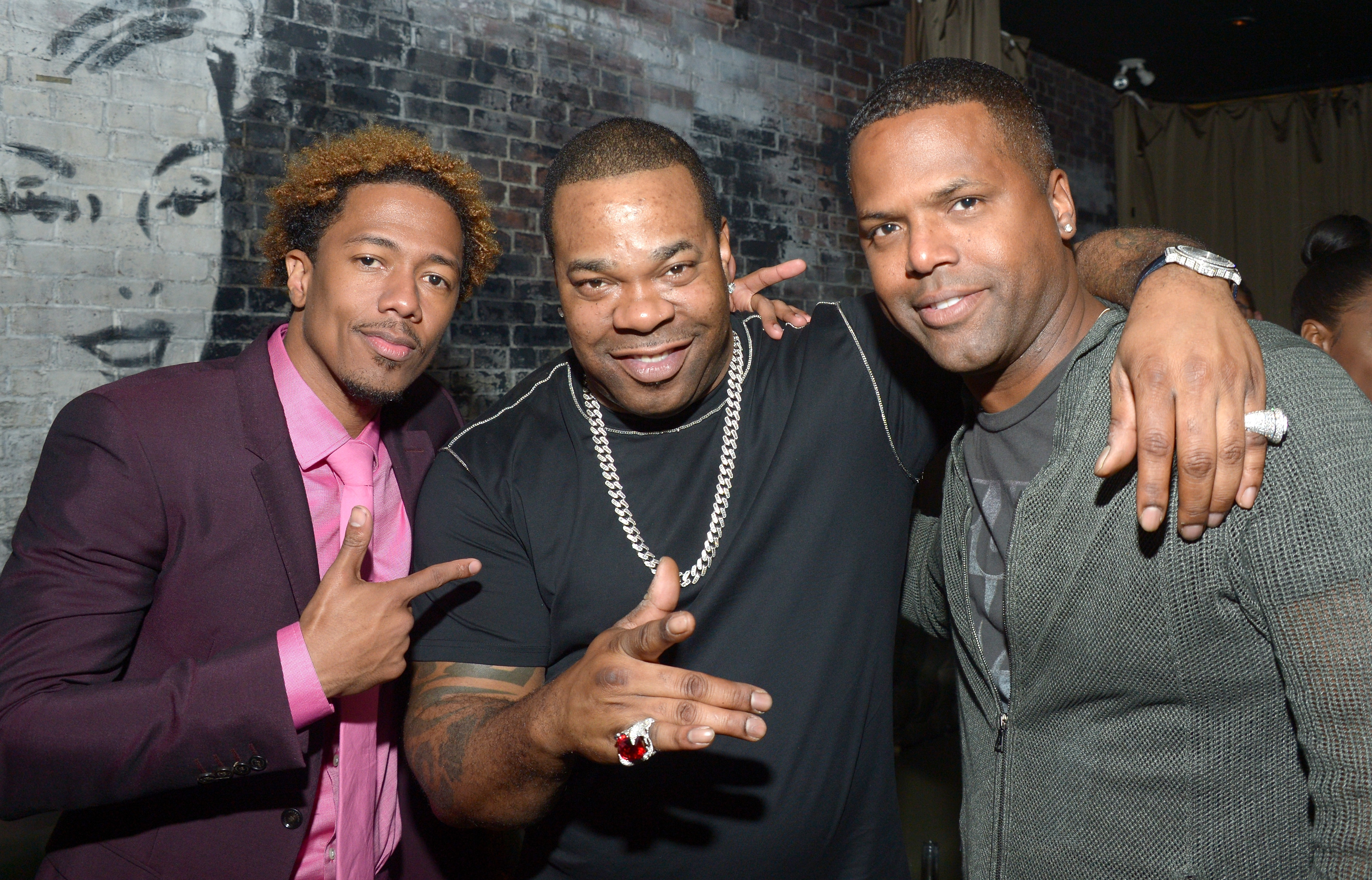 Director/Actor/Producer Nick Cannon, musician Busta Rhymes,TV personality AJ Calloway