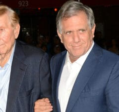 Sumner Redstone and Les Moonves