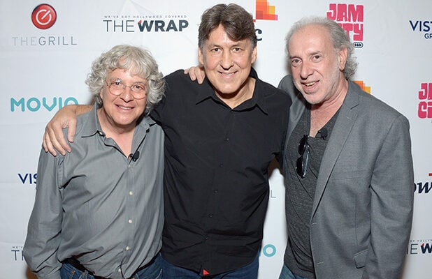Joel Bernstein, Cameron Crowe, and Neal Preston at The Grill media Conference