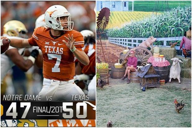 Texas Beats Notre Dame ABC Beats CBS NBC