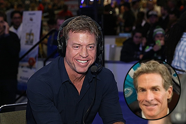 Troy Aikman and Skip Bayless