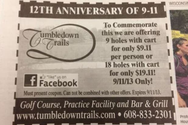 911 tasteless tumbledown trails golf course